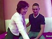Mom Seduce Young Step-Son to Fuck her Pussy