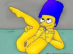 Griffins und Simpsons Hentai Porno parodieren