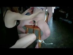 Femdom Couple Tease and Denial and CBT