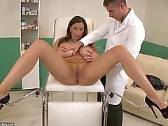 doctor's checkup for busty sensual jane