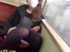 Asian lass loves to pee in the public