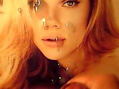 Scarlett Johansson Кончить Tribute Групповое семяизвержение на лицо