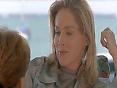 Sharon Stone início que faz com um cara ao lado e no