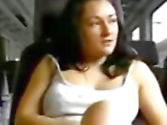 Girlfriend masturbates for you on a train - Part 1