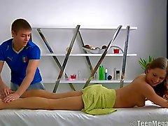 Fucking hard after massage