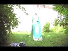 étudiant fille droit fist anal jardin extérieur sextoy 25
