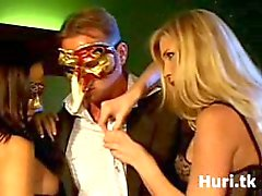 Masked orgy with hot babes
