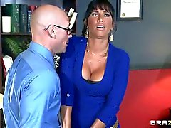 Busty MILF Lezley Zen takes sex therapist s boner