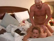 Natasha Nice gets a dick plowed between her hot pink pussy lips