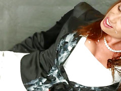 Chic bukakke overspread redhead pussyrubbing