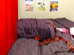 Webcam vagabunda quente é amarrado e orgasmo torturado