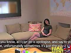 FakeAgentUK Sexy amateur gets sweet anal action in porn casting