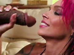 Tattoo pornstar interracial and cumshot