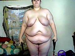 chica gorda tratando de bajar de peso entrenamiento atractivo descubierto