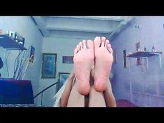 Sexig med shemales fötter för att me