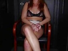 Chubby red heads swallows at the gloryhole