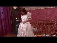 Rossi Bride essere brutalmente forzata scopare