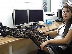 Горячий анал офис птенец в колготках