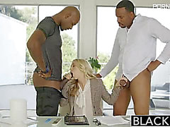 Blacked Karla Kush Ideal Blond With two Monster Darksome Ramrods XXX Consummate Golden-Haired With two Monster Darksome Rods