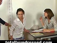 Dirty job interview for young secretary