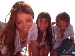 Asian wild girls in a bitch
