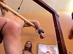 Extreme dominants torturing slave