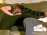 Mondo gay caldo Tristano è stata evidentemente in dell'amore con suole esterne di fin dal un