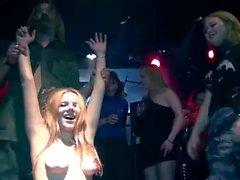 korrozia metalla metal concert kinky nude girls on stage