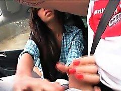 Euro Teenager di Gina Devine dispone di sul sedile posteriore sessuale