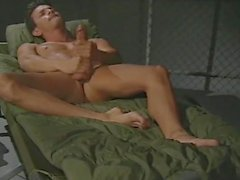 Hung army dude massaging his cute feet