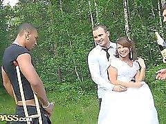 Групповой секс на свадьбе при ДП