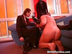Masked slave lies as two sluts tie part4