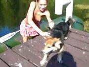 Amateure American Natasha in das Boot