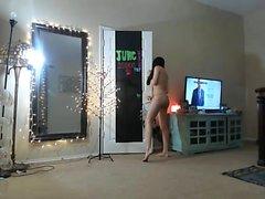Webcam teen strips masturbates