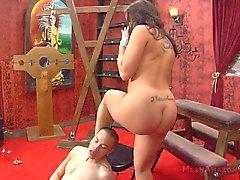 Busty Babe Riding Face & Giving Handjob
