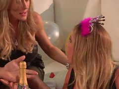 Kendra Lust and Samantha Saint have lesbian sex after party