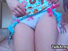 Amateur Starlagurl blinkende Titten auf Live-Webcam