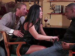 A Cuckolded Spouse Watches His Wife Fuck A Darksome Chap
