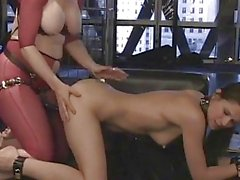 Slut Nina Hartley pounds this slut up her pantie pot