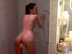 Jugendlich Mädchen Dusche und Masturbieren In Bath