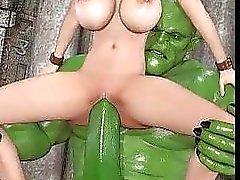 3D satanischen Wesen Fick Babes !