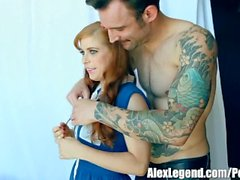 Hottest Threesome! Busty Hot MILF Sarah Jessie Fucks Her BF With Penny Pax!