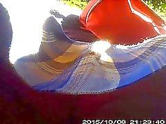 Colegiala calzon rojo
