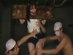 Insaciável, japonês, schoolgirl, obtêm, dela, boca, enchido, f