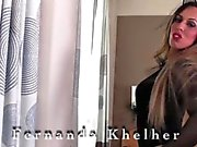 Kurvenreich Glamour Transgirl Fernanda Khelher heißes Solo