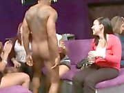 Sexy male strippers acquire their lusty peckers licked