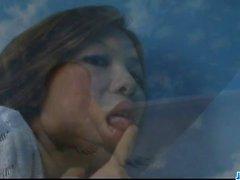 Rika Kurogawa big tits babe sopra galo na banheira