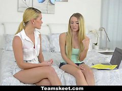Dyked Teen Best Friends Scissor On Webcam