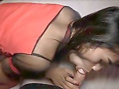 Ladyboy Nam Getting Barebacked and Creampied