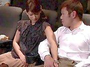 Japanische gf Modell Hahn im Kino weht